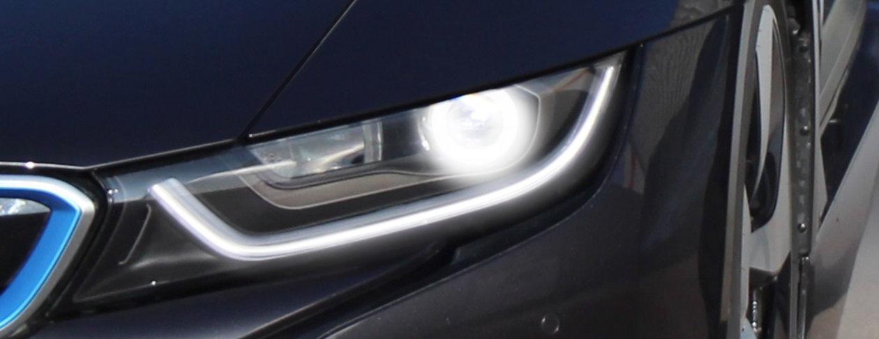 Laserljus i BMW i8