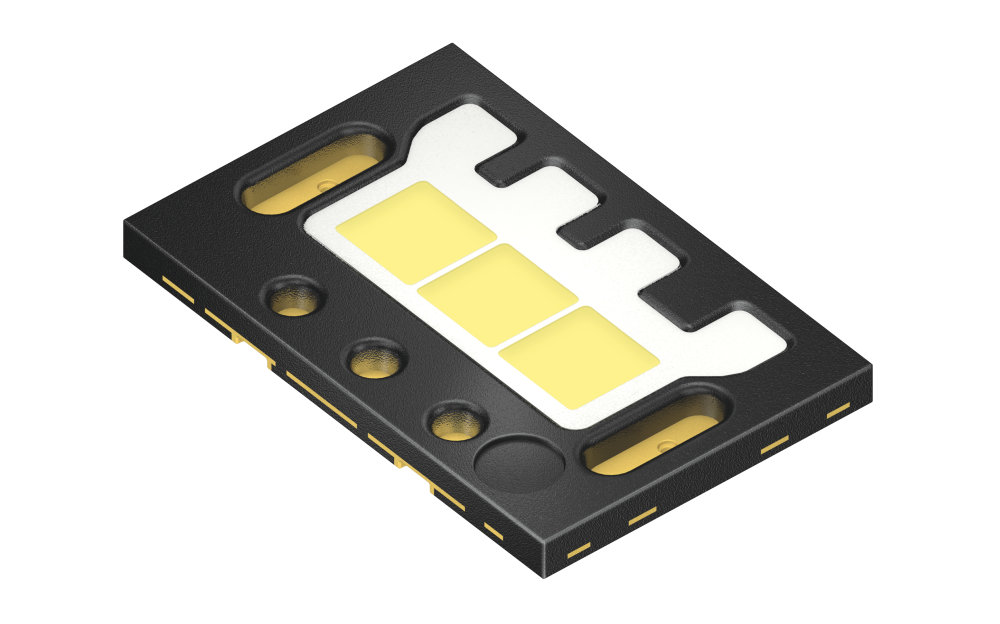 Oslon Black Flat S – the world's first surface mountable LEDs with three, four or five individually controllable chips for ADB and matrix headlights.