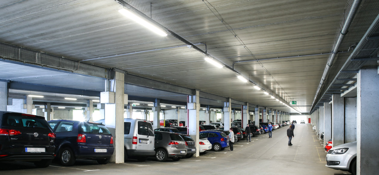Smart light for vw parking garage in baunatal germany for Garage vw illkirch