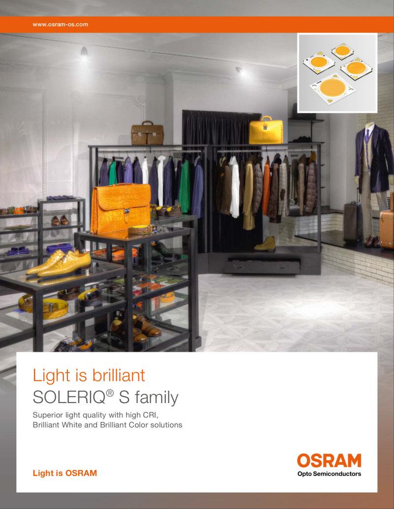 Product Flyer SOLERIQ S