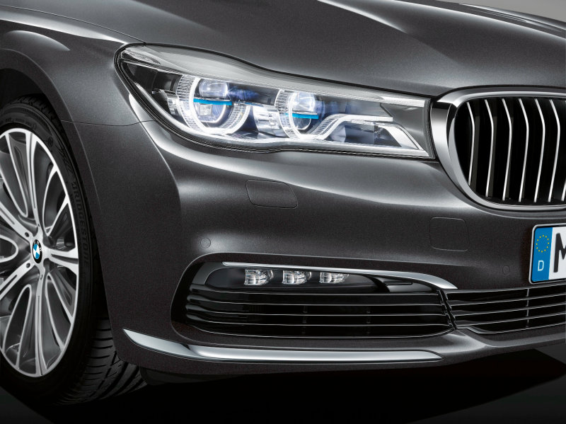 Laser headlight in BMW 7