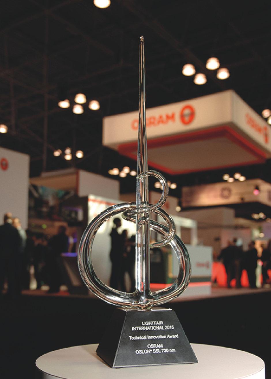 Osram Oslon SSL 730nm wins two innovation awards at LIGHTFAIR International 2015