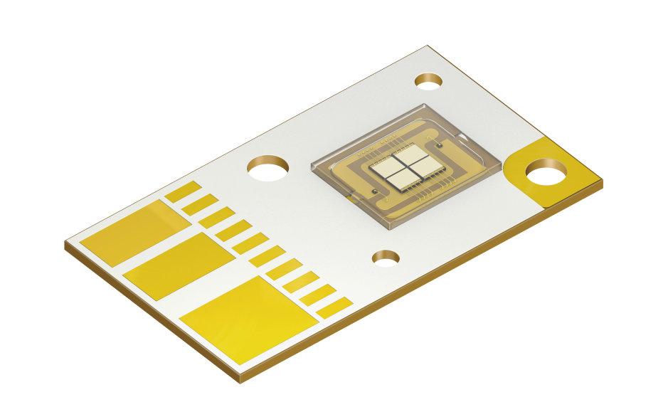 新款 Osram Ostar Projection 搭载四颗芯片,可作为独立的两对分别进行控制。
