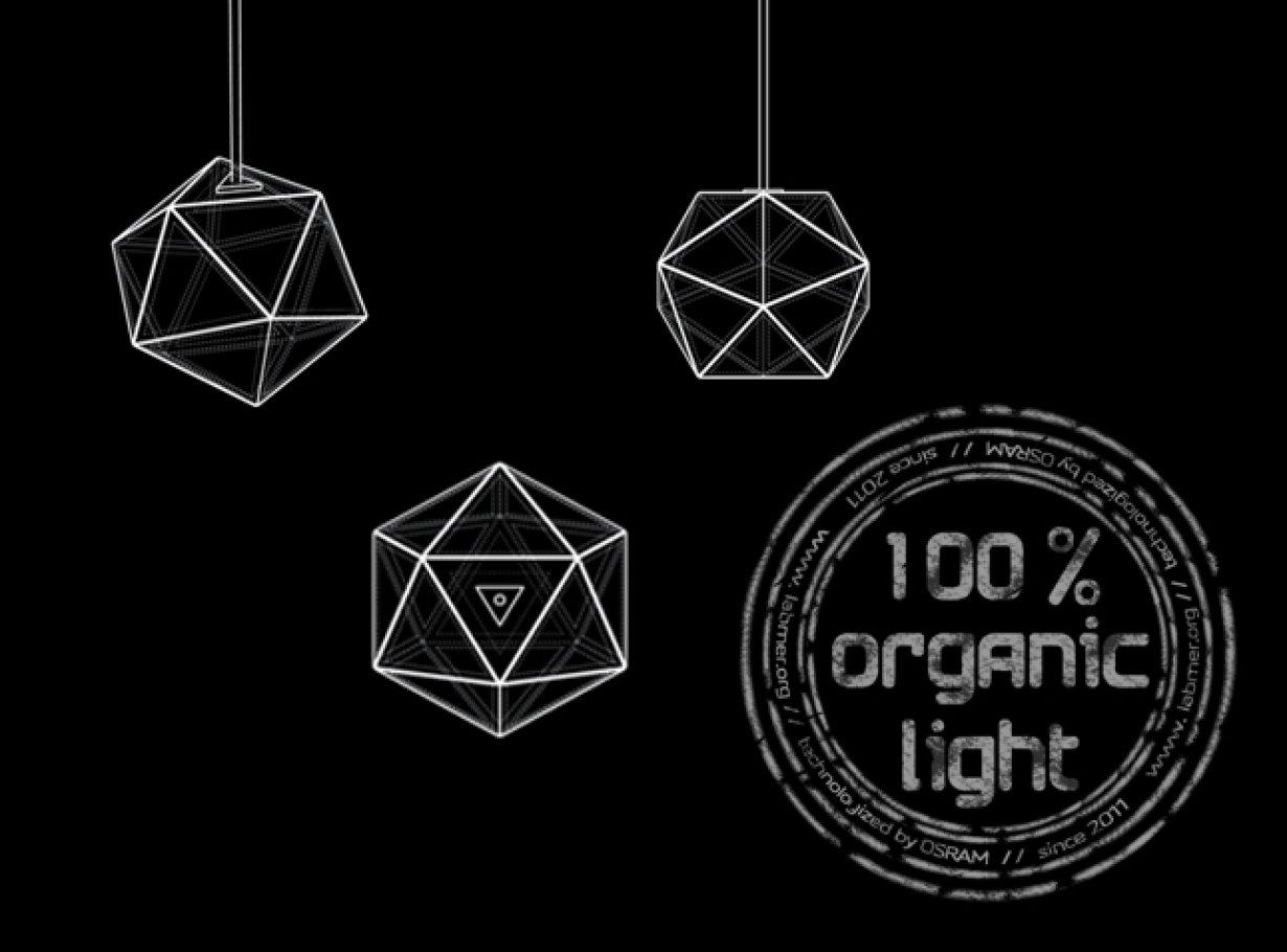 OLED luminaire Rendering