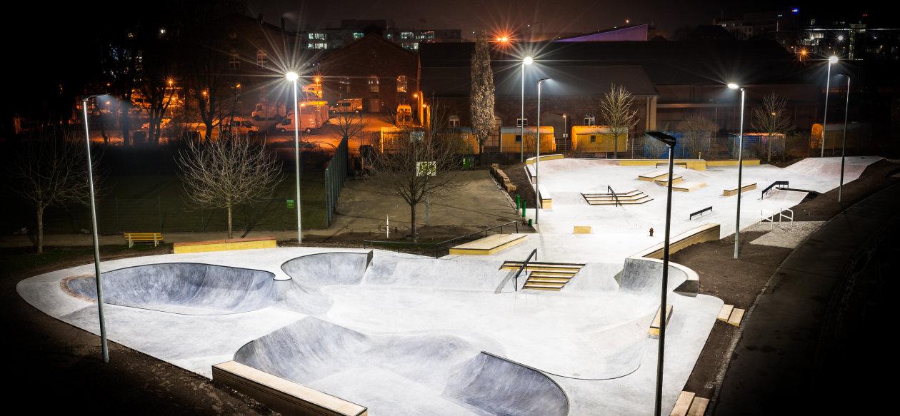 led sports light for skatepark karlsruhe germany osram lighting