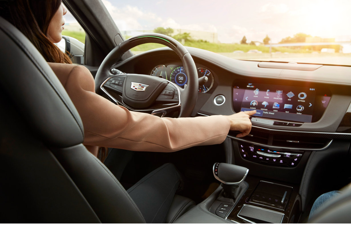 The 2018 Cadillac CT6 features Super Cruise, the industry's first true hands-free driving technology for the highway.