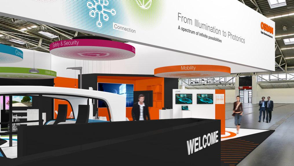 Unter dem Motto From Illumination to Photonics zeigt Osram Opto Semiconductors auf der electronica 2018 innovative Licht-Technologien.