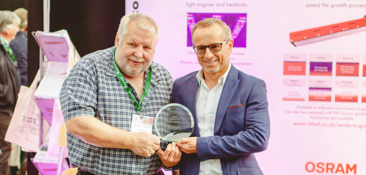 GroSouth 2018 - IHS has won the Award for Best Innovation 2018 for their Florence grow light product family.