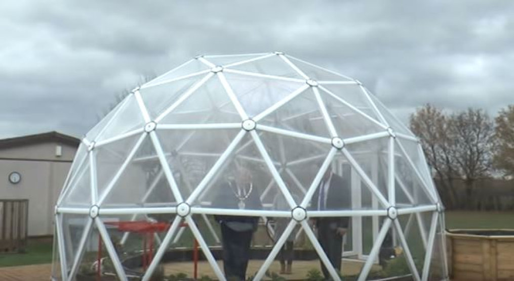 Horticultural LEDs used in Bio-Dome at St Mary's Junior School