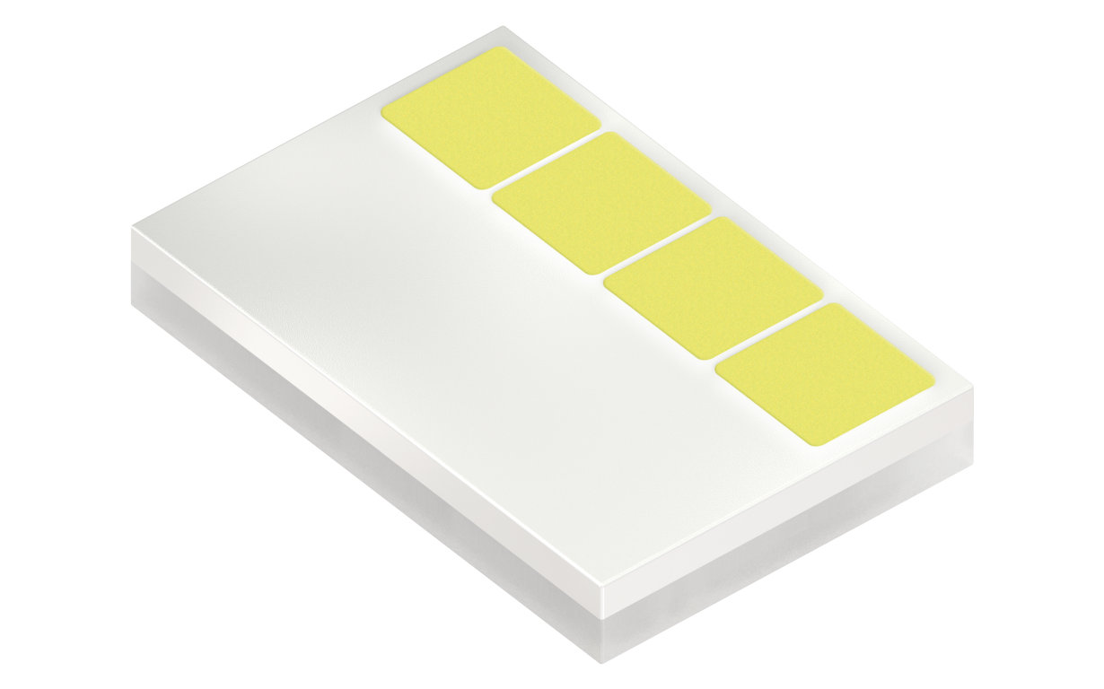 The ceramic-based Oslon Compact PL can be operated at high currents and achieve high light output thanks to the new thermal pad.