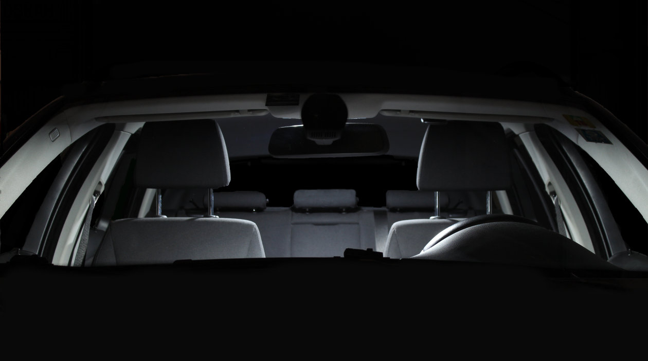 Car interior lighting with LED retrofits