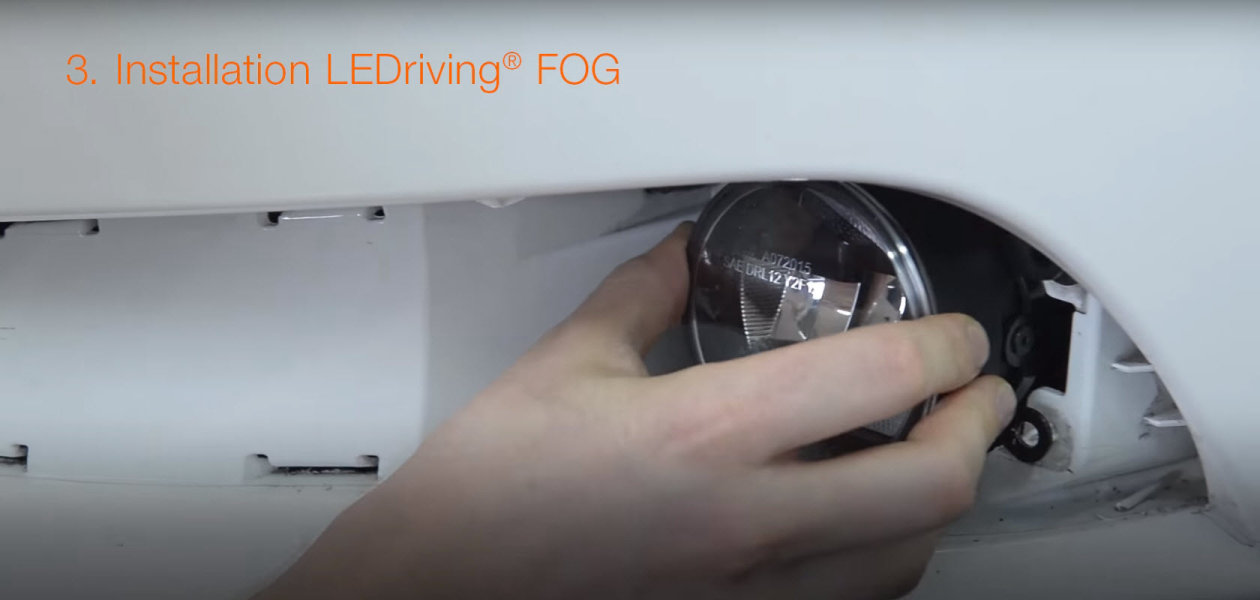 Installation video for LEDriving LED fog lights