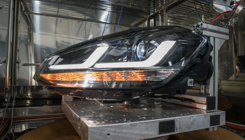 LEDriving headlight rezgésvizsgálata