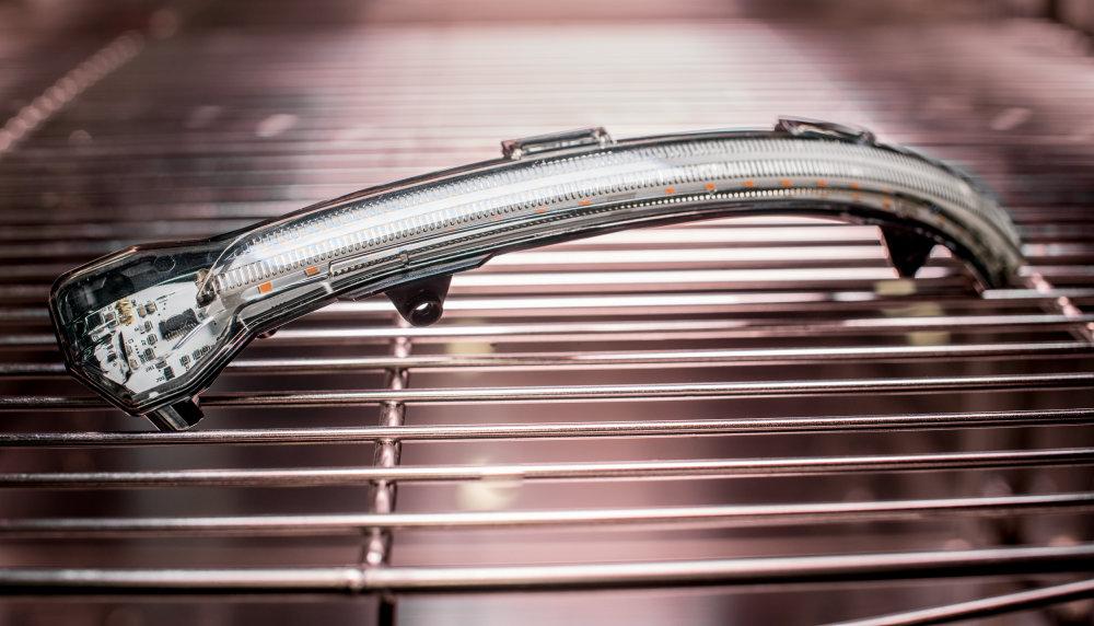 LEDriving Dynamic Mirror Indicator undergoes UV testing