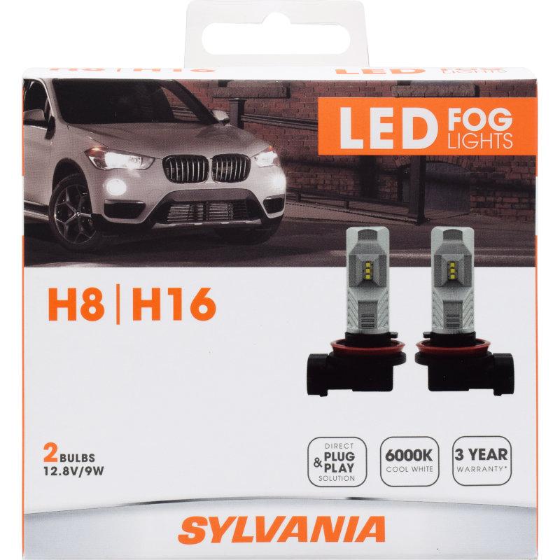 Sylvania Automotive Bulb Guide >> 3 YEAR WARRANTY - SYLVANIA H8/H16 LED Fog Bulb | SYLVANIA ...