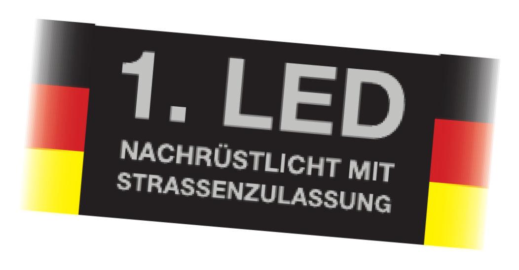 Erstes LED-Nachrüstlicht mit Straßenzulassung