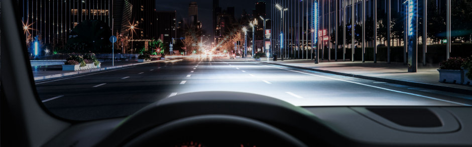 Fahrersicht mit NIGHT BREAKER LED