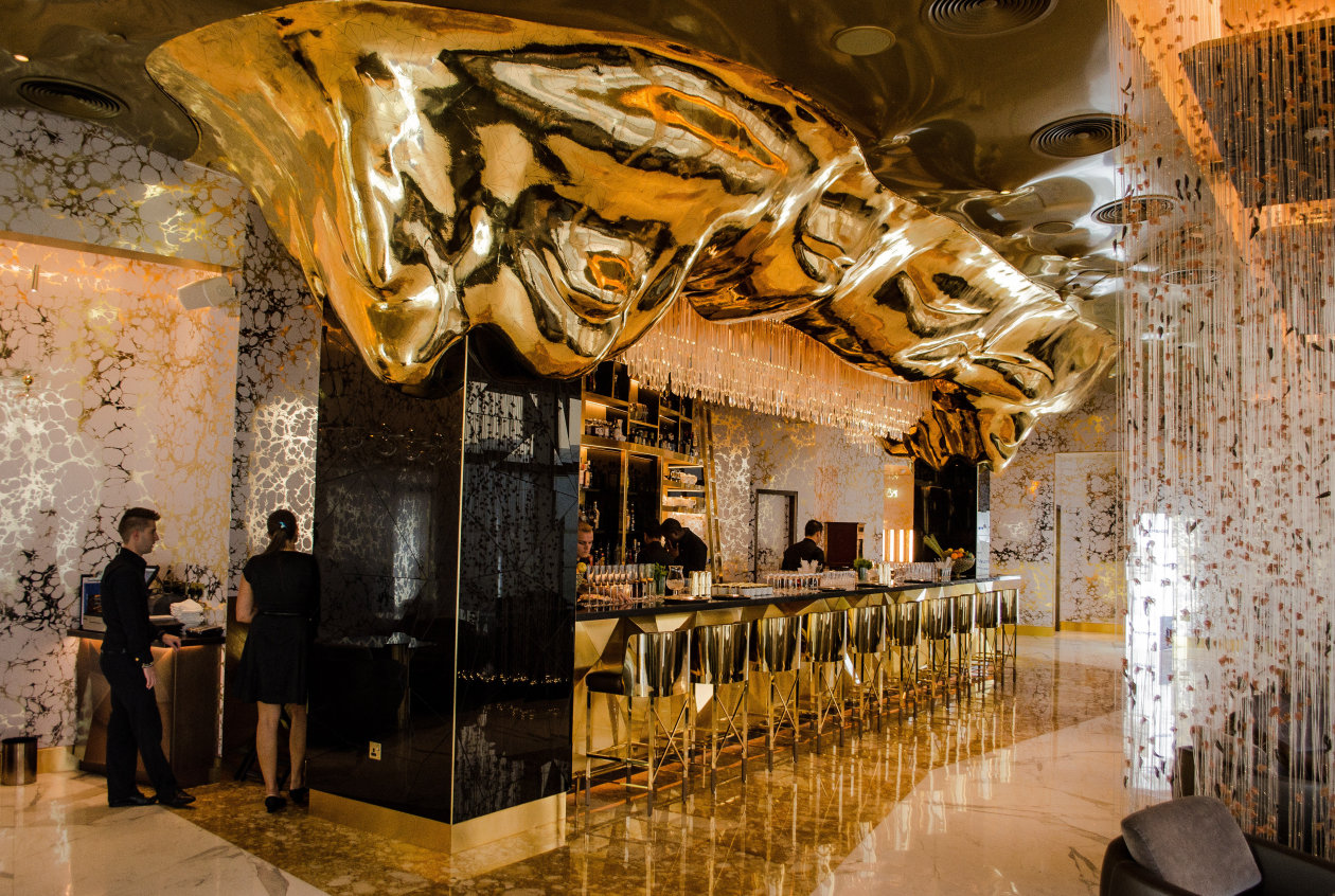 A Golden Age For Dubai The Gold On 27 Bar Illuminated With Led Modules From Osram Light Is Osram