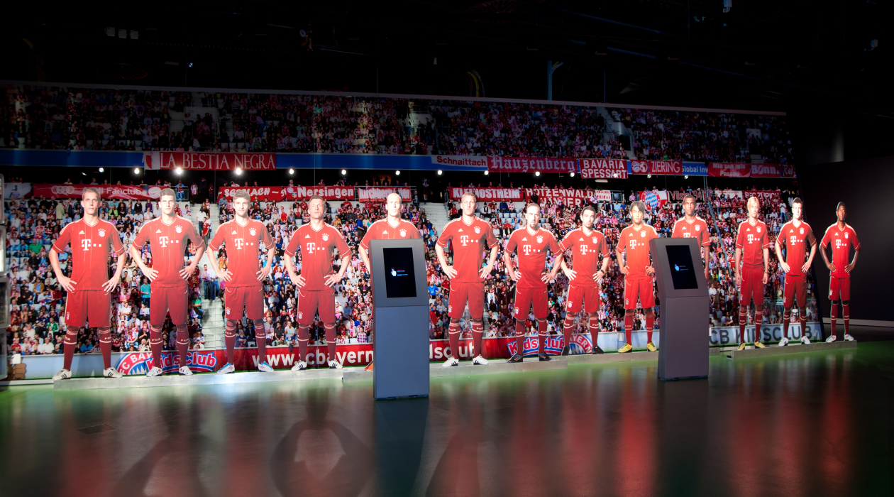A perfect blend of light and color: FC Bayern Erlebniswelt