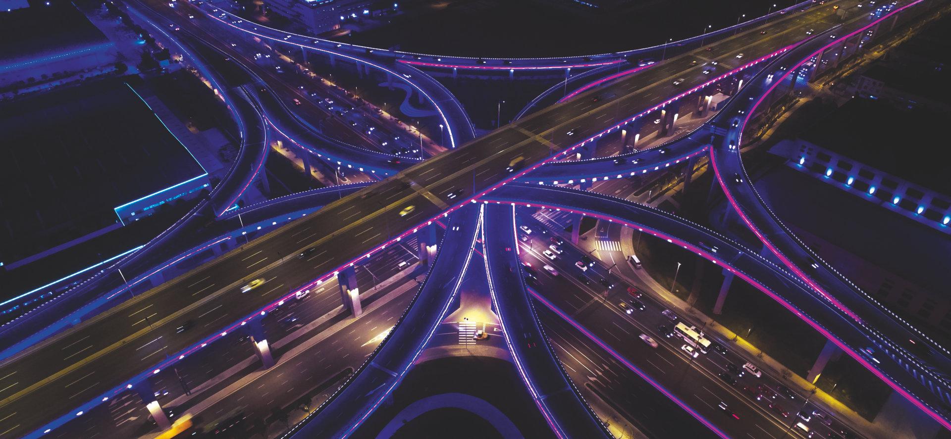 La lumière pour villes et espaces publics intelligents