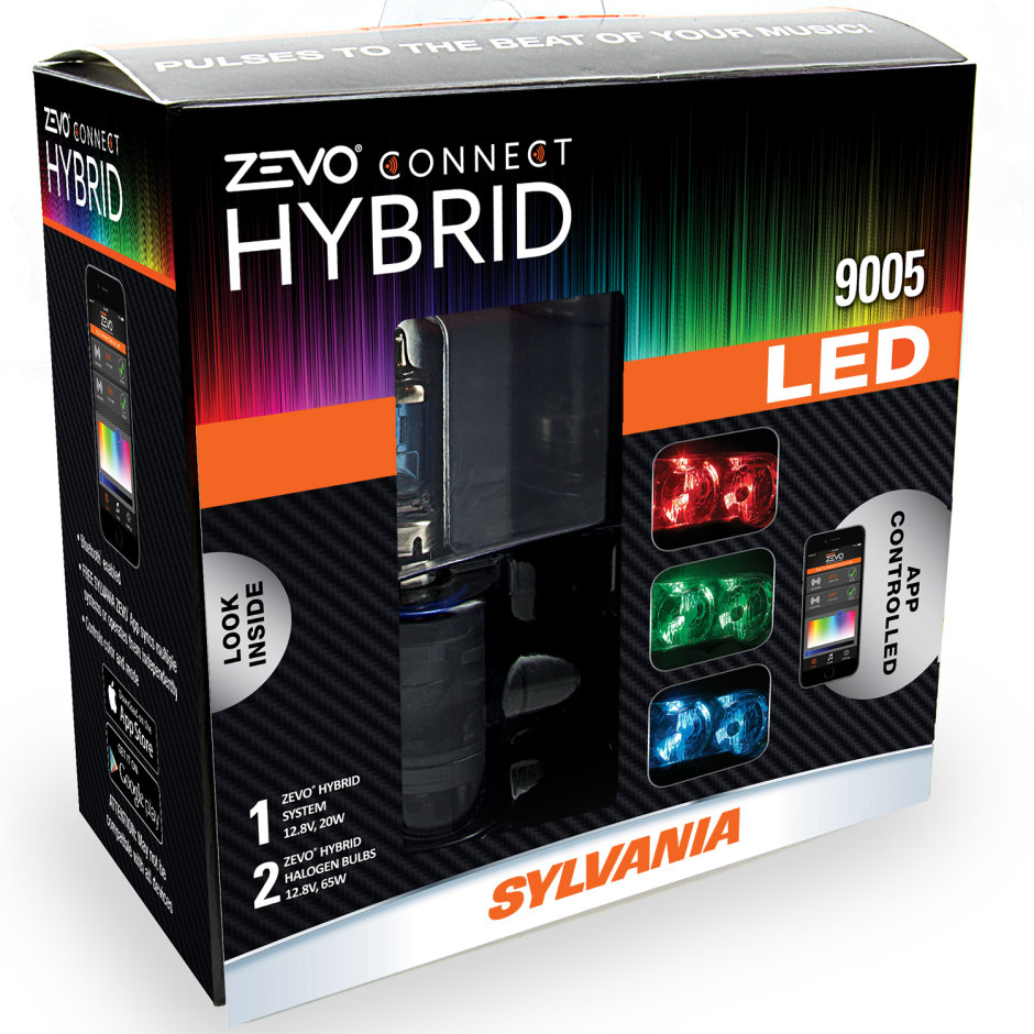 SYLVANIA 9005 ZEVO Connect Color Changing Headlight