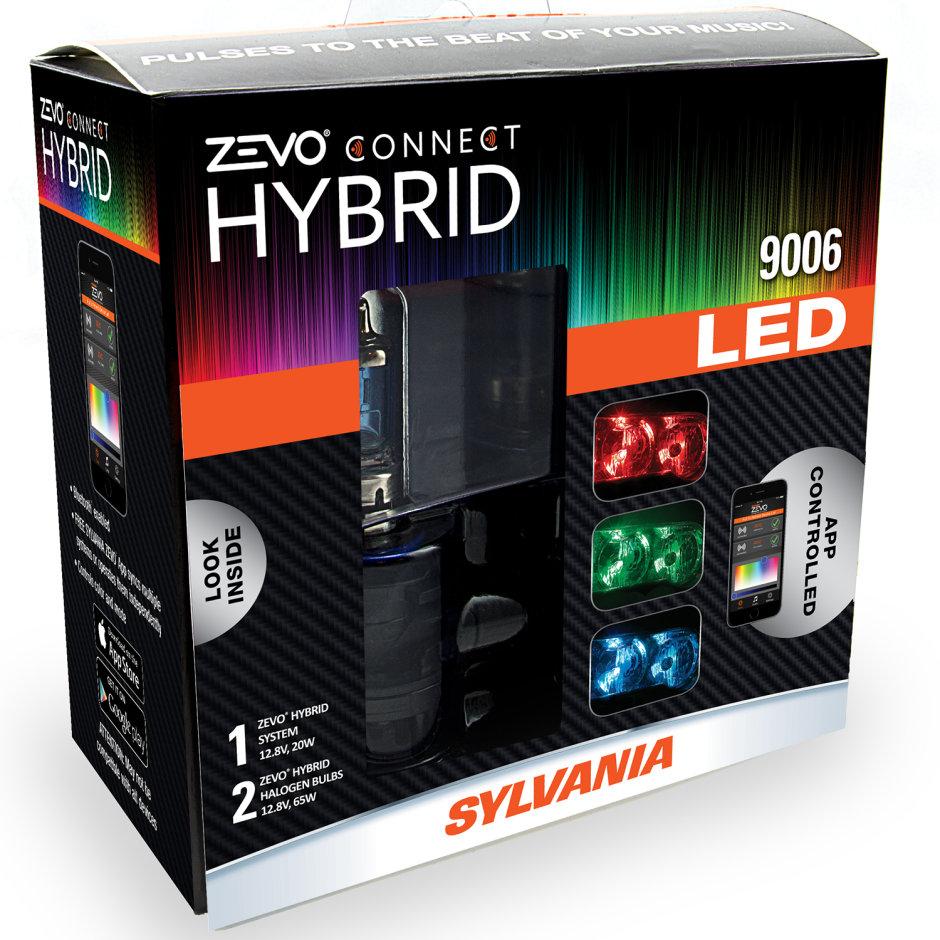 SYLVANIA 9006 ZEVO Connect Color Changing Headlight