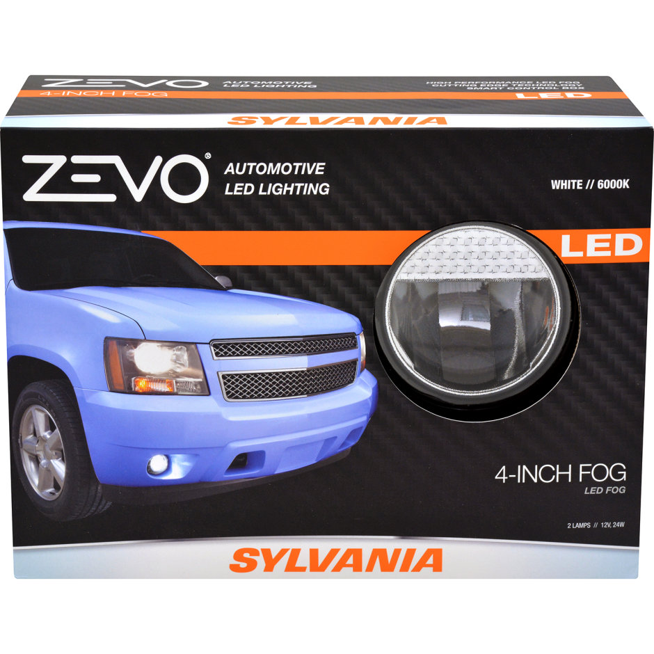 SYLVANIA ZEVO 4IN Round Fog Sealed Beam