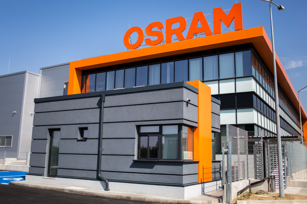 Osram Led Components Provide Contemporary Industrial Lighting In The Company S New Plant Light Is Osram