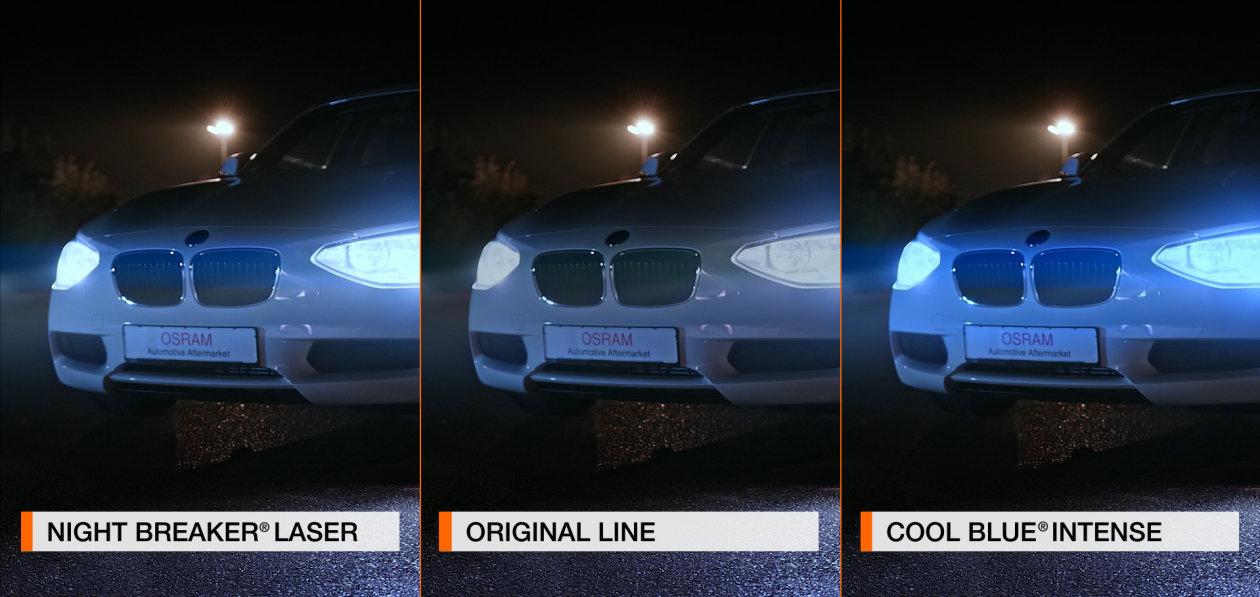 Diferentes automóviles, diferentes lámparas para faros, diferentes requisitos