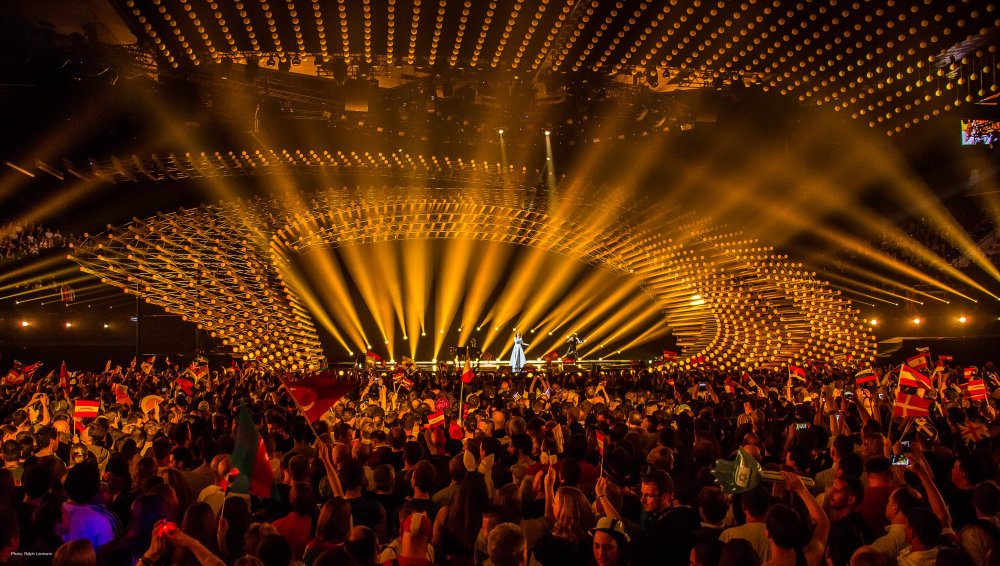 Lighting for the opening act of the ESC 2015