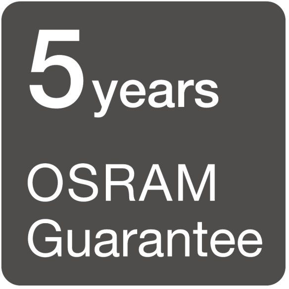 Up to 5 years OSRAM guarantees for the professional lighting market