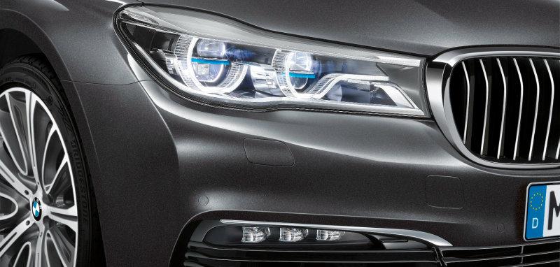 신형 BMW 7 차량에 적용된 레이저 조명