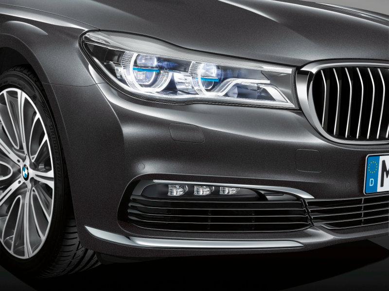 Projecteur à laser dans la série 7 de BMW