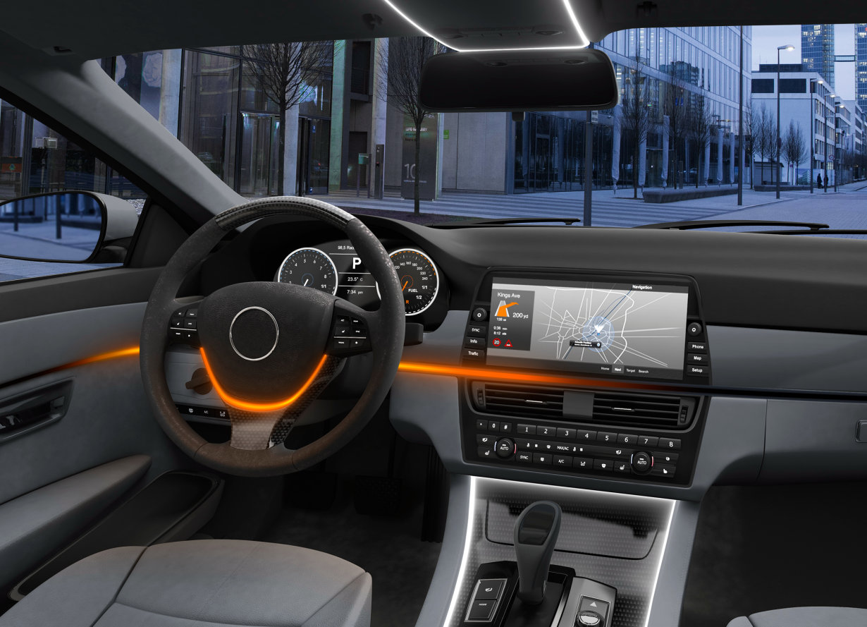 Dynamic in-car lighting with RGB-LED Osire E4633i