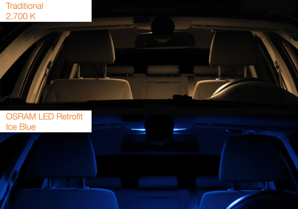 LED de substitution LEDriving Bleu Glace
