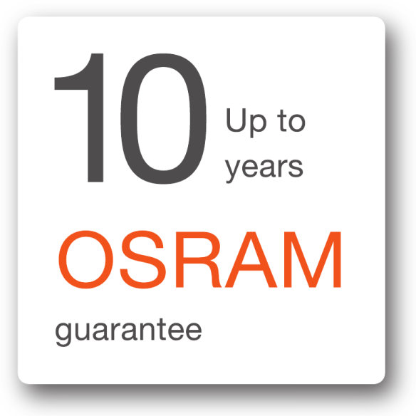 Up to 10 years OSRAM guarantees for consumer
