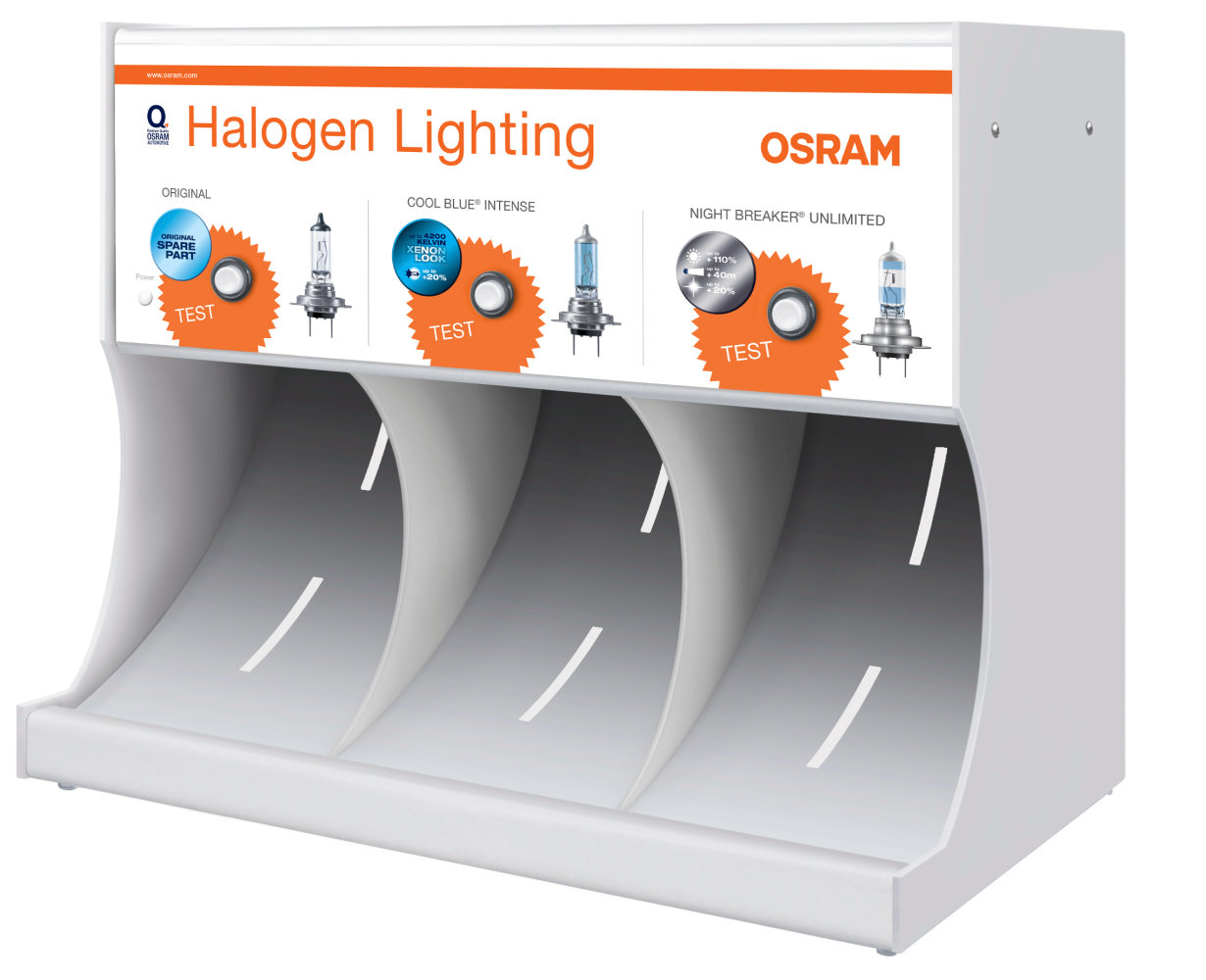 Halogen headlight lamps demo tool